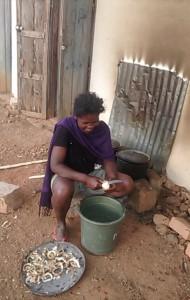 Préparation du repas des ouvriers